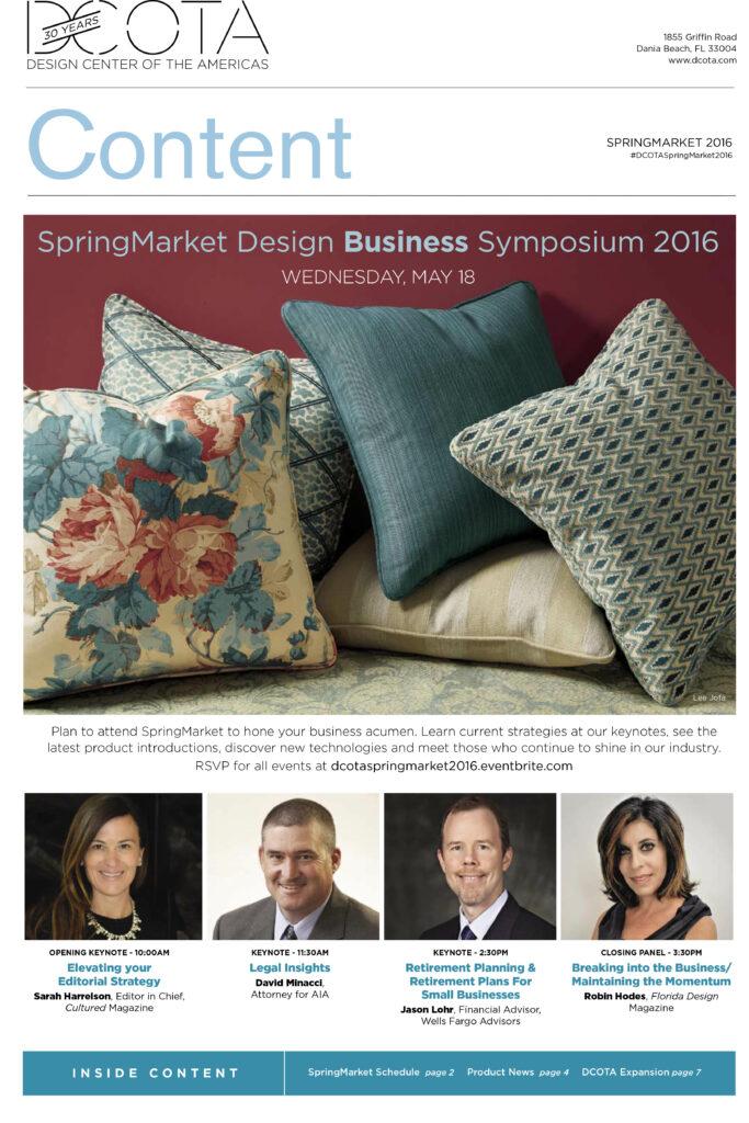 SpringMarket Design Business Sypmosium