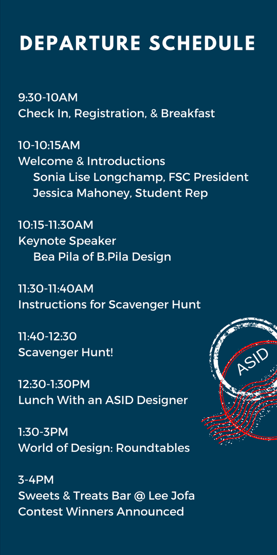 student career day schedule design center of the americas