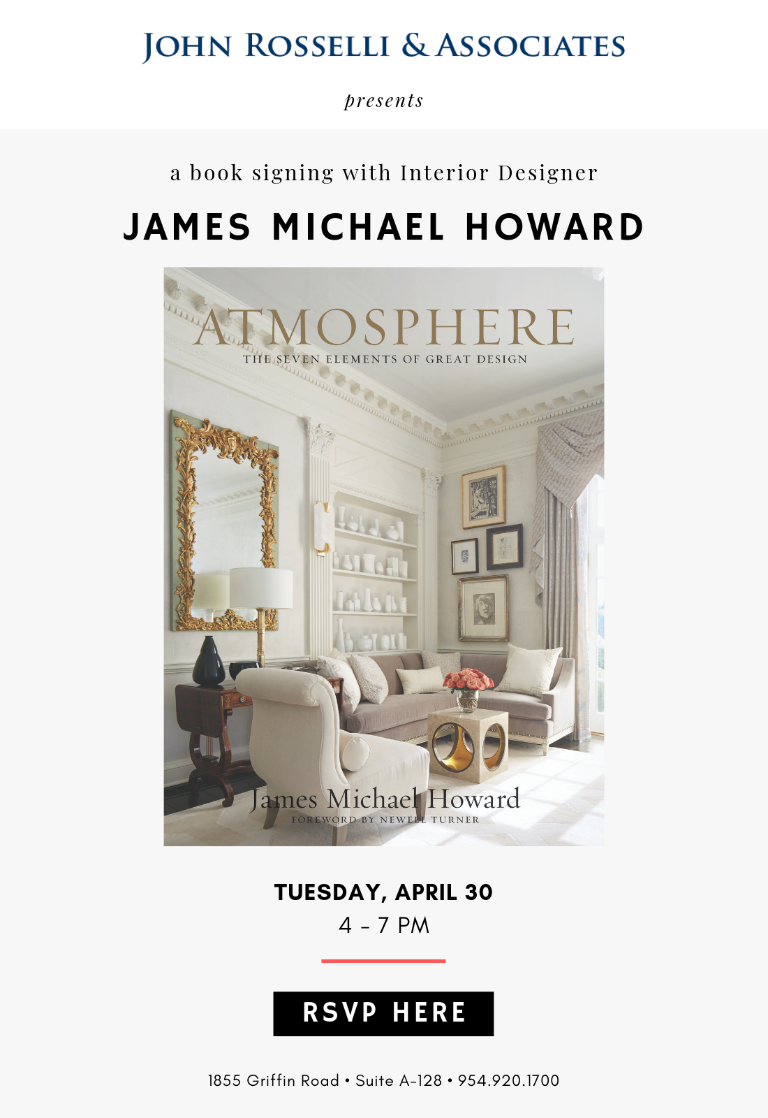 Book Signing With James Michael Howard Design Center Of The Americas